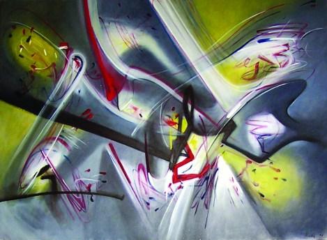 Renzo Bergamo, La porta delle stelle, 1996, olio su tela, 162.2x121 cm (EsteEtica del Caos)