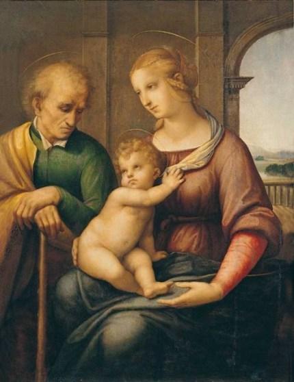 Raffaello Sanzio, Sacra Famiglia, 1506-07 circa, olio e tempera su tela, 72.5x56.5 cm, Museo Statale Ermitage, San Pietroburgo
