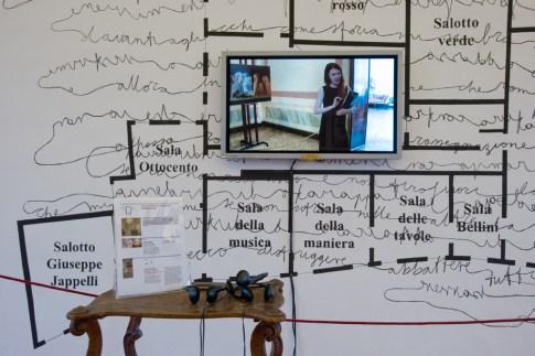 Chiara Fumai, I Did Not Say or Mean 'Warning' (dettaglio), veduta dell'allestimento, stanza V, A Palazzo Gallery, Brescia