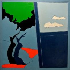 Tano Festa, L'Eden, 1969, olio su tela, cm. 100x100