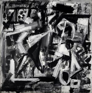 Emilio Vedova, De America '76 - 9, 1976, idropittura, carta e pastello su carta intelata, 207x204.5 cm