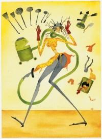 Maddalena Sisto, Come superare lo shock di trovarsi improvvisamente..., 1996, acquerello su carta, 52.5x42.5 cm Courtesy Galleria Riccardo Crespi, Milano