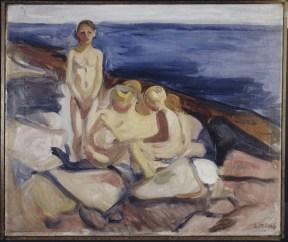 Edvard Munch, Bagnanti, 1904-1905, olio su tela, 57.4x68.5 cm, Collezione privata © The Munch Museum / The Munch-Ellingsen Group by SIAE 2013