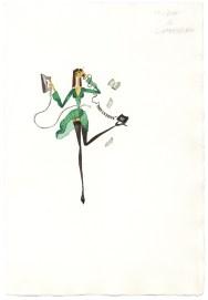 Maddalena Sisto, Gli uomini preferiscono le..., 1996, acquarello su carta, 28x19 cm Courtesy Galleria Riccardo Crespi, Milano