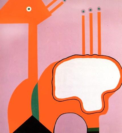 Custodire l'intervallo, 1996, acrilico su tela cm 200 x 180