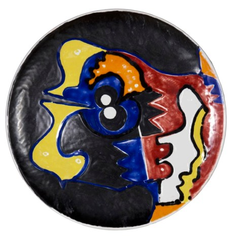 Senza titolo, 2012, ceramica dipinta cm 41 diam