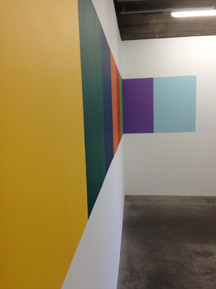 Michelangelo Consani, L'arcobaleno di Pier Luigi, Wall drawing, 2014, cm 120x900, Courtesy Side 2 Gallery, Tokyo