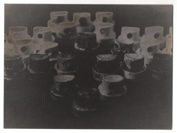 Cuoghi Corsello, L'Esercito Dei Tappi, 1992, stampa fotografica in bianco e nero su carta Ferrania Anni 60, 23x31.3 cm