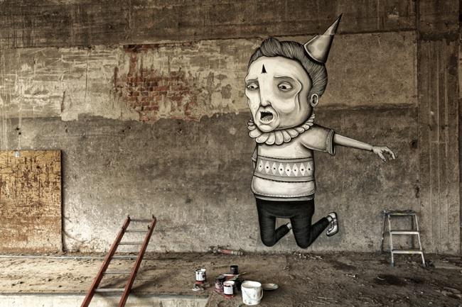 Seacreative, wall drawing