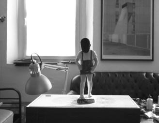 Diango Hernandez, H, 2011-14, vetrofania, 320x248 cm Courtesy l'artista 2013
