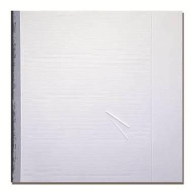 Gianfranco Zappettini, La trama e l'ordito n 33, 2013, resine, wallnet e acrilico su tela, 80x80 cm