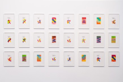 Jamie Shovlin, Fontana Modern Masters Watercolours (Installation view) 2012, Courtesy 1/9unosunove and The artist, Photo credit: Valerio Iacobini