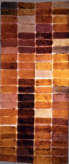 Renata Boero, Cromogramma, colori vegetali su tela, 276x122 cm Foto Giorgio Majno