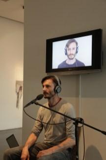 Benno Steinegger, Aderlass | Salasso, video installazione (video performance in occasione dell'inaugurazione della mostra), 2014