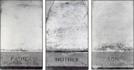 SOPHIE CALLE Les Tombes / The Graves, 1990 Gelatin silver print on aluminum Tryptich – 180 x 100 cm each Photo © museum moderner kunst stiftung ludwig wien © Sophie Calle by SIAE 2014