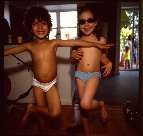 NAN GOLDIN, Orlando and Lily Doing Ballet, Brooklyn, NY, 2006 Photograph from videoinstallation Fire Leap, 2011 © Nan Goldin