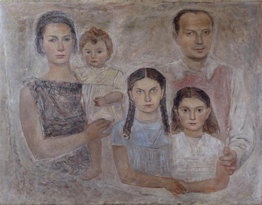Massimo Campigli, La famiglia dell'architetto Gio Ponti, 1934, olio su tela