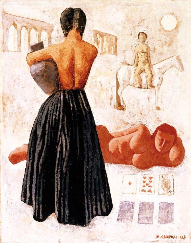 Massimo Campigli, Les tziganes, 1928, olio su tela, © MART – Archivio fotografico