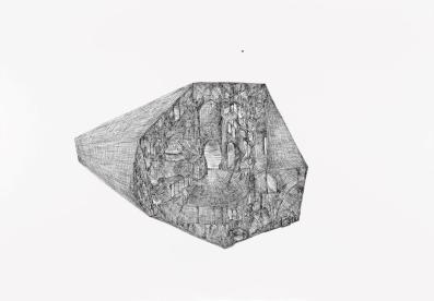 Pierluigi Pusole, Landscape I.S.D., 2014, china su carta, 70x100 cm Courtesy Riccardo Costantini Contemporary, Torino