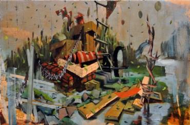 """Luca Moscariello - """"Mala Tempora"""" - 2014 - T.Mista Su Tavola - Cm 20 X 30, Bonioni Arte"""