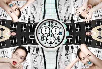 immagine della campagna pubblicitaria SWATCH, Trompe l'oeil