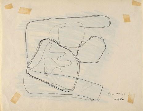 Lucio Fontana, Studio per Tavoletta graffita, 1930, inchiostro nero e matita su carta, 22x28 cm