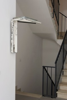 Florian Neufeldt, The tendency to look up, 2014, part of door frame, courtesy The Gallery Apart, Rome