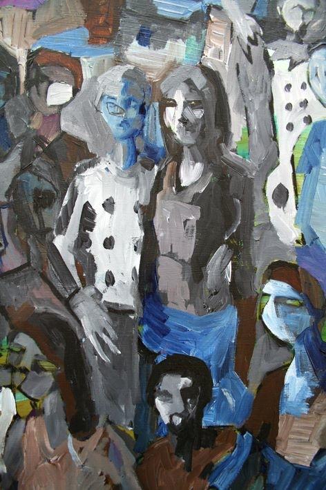 Gianluca Capozzi, Untitled, 2013, Acrilic on linen, cm. 150 X 100, detail