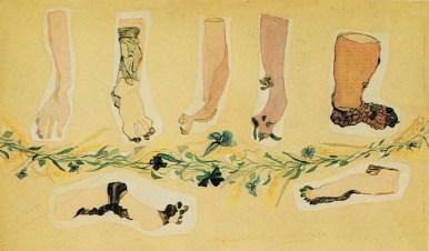 Carol Rama, Teatrino n. 2, 1937, acquarello e pastello su carta, 13,8x23 cm.