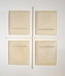 Elena Modorati, Una finestra, 2010, cera, carta giapponese e ferro, cm 64x54