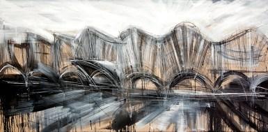 Federico Romero Bayter, Esterior, 2014, olio su tela, 90x180 cm