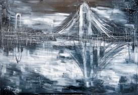 Federico Romero Bayter, Ponte, 2014, olio su tela, 90x120 cm