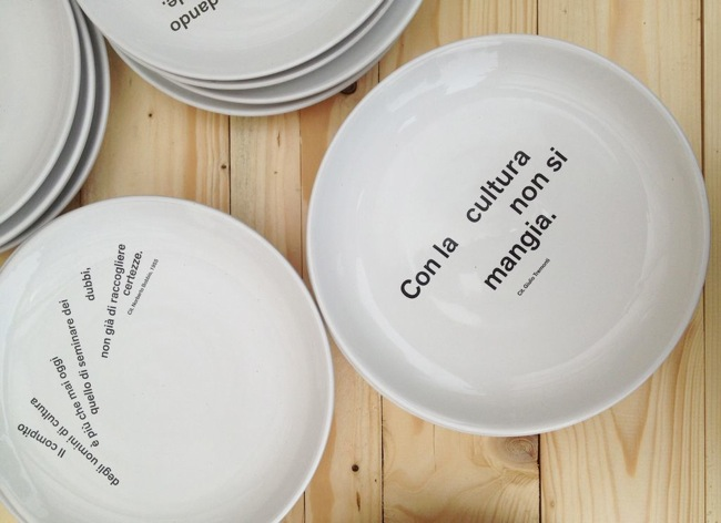 Marzia Migliora (2013), Con la cultura non si mangia, edizione di 108 piatti e 108 ciotole