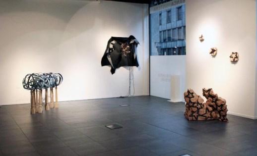 Alberto Gianfreda, veduta della mostra Earthquake, Banca Sistema Arte, Milano