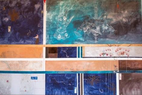 Loredana Galante, Con l'aiuto dei ragni tessitori, 2014, Genova, opera in mostra
