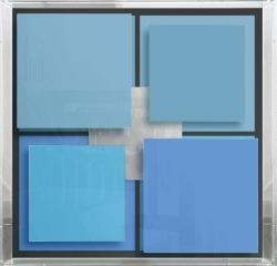 Christian Megert, Senza titolo, 2005, legno, specchio e acrilico, 71x71x12 cm