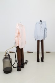 Luca Francesconi, Farmer, 2014, iron, cotton - Farmer, 2014, iron, cotton, milk machine
