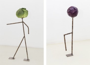 Luca Francesconi, Capo (capurale), 2014, stainless steel worked, vegetable - Cafone, 2014, stainless steel worked, vegetable