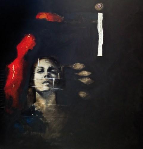 Angela Pellicanò Dream experience, 2011/2014 tecnica mista su tela mixed media on canvas cm 100x100