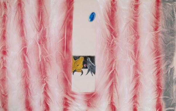 Enzo Cucchi, Senza titolo (Natività), 2013-2014, acrilico e olio su tela, 212x330 cm Photo Antonio Maniscalco, Courtesy FL Gallery