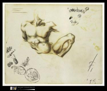 ackson Pollock Senza titolo, 1937-1939 matite colorate, grafite, penna e inchiostro di china su carta The Metropolitan Museum of Art, New York © Jackson Pollock, by SIAE 2014