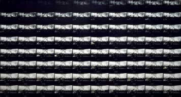 Jan Dibbets The Shortest Day of 1970 photographed from sunrise to sunset, The SolomonR. Guggenheim Museum, New York (Il giorno più corto del 1970 fotografato dall'alba al tramonto, The Solomon R. Guggenheim Museum, New York),1971 fotografie a colori / color photographs 141 x 262 cm