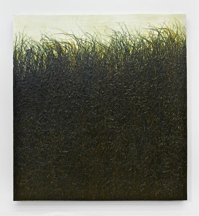 Jacob Hashimoto Untitled #8 - 2008 Acrilico, carta uretano su lino, 152,2 x 145 x 5 cm / Acrylic, paper, urethane on linen Courtesy Studio la Città - Verona