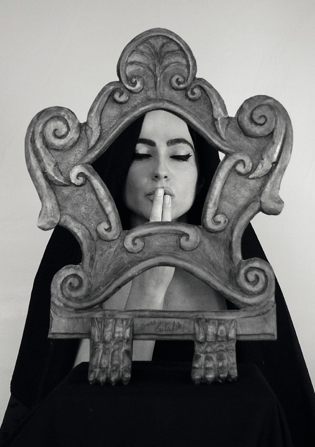 Silentium aurum est. Personale di Mario Vespasiani, particolare del manifesto, Alviani Artspace - Aurum, Pescara