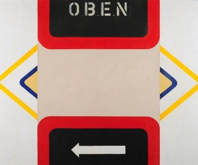 Winfred Gaul, Oben und Unten, 1963, olio e smalto su tela, 100x120 cm
