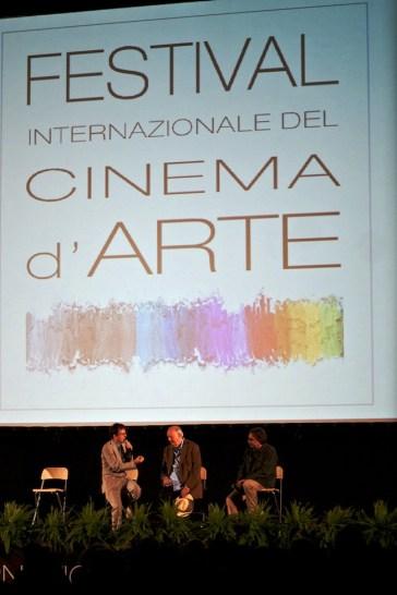 Un'immagine da una delle scorse edizioni del Festival Internazionale del Cinema D'Arte di Milano