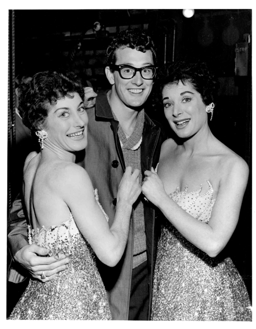 © 2014, Bill Francis, Flair Photography, Buddy Holly with Tanner Sisters 28-2-1958