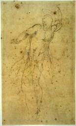 Michelangelo Buonarroti, Studio per un Cristo risorto 1532 – 1534 matita nera, mm 325x190 Firenze, Casa Buonarroti, inv. 66 F
