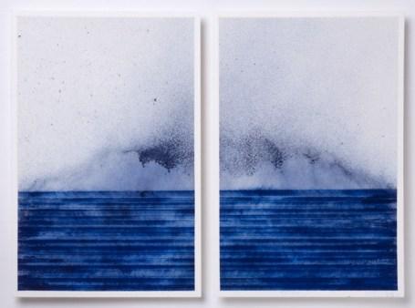 Patrizia Novello, Cornice di ricordi per un futuro che attende, 2013, pigmento su olio su carta, 22.9x31.4 cm