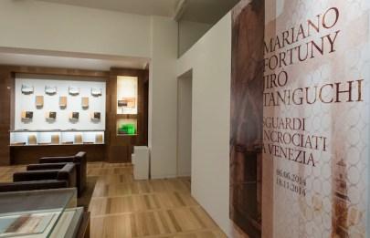 Sguardi incrociati a Venezia, Jirô Taniguchi Mariano Fortuny, Espace Louis Vuitton, Venezia, veduta della mostra